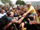 Presidente Jair Bolsonaro em encontro com apoiadores no Maranhão.