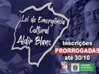 A Fundação de Cultura de Mato Grosso do Sul (FCMS) publicou no Diário Oficial de hoje (22 de outubro), a prorrogação das inscrições para artistas e trabalhadores da cultura