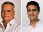 Os candidatos Alfredo Gaspar de Mendonça (MDB) e João Henrique Caldas, o JHC (PSB)