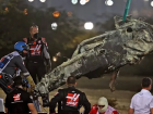 Carro de Grosjean ficou carbonizado depois do acidente