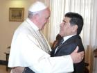 Maradona se encontrou com o Papa Francisco em 2014 e 2015
