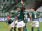 Gabriel Veron marcou dois golaços contra o Delfín, do Equador, pela Libertadores