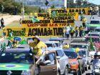 Carreata com buzinaço protesta contra Bolsonaro e a favor da vacinação