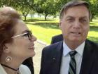 Em transmissão feita pela deputada Carla Zambelli (PSL-SP), o presidente Jair Bolsonaro diz esperar um relacionamento