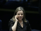A presidente do PT, deputada Gleisi Hoffmann (PR)