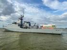Navio da Marinha faz o transporte de oxigênio para Manaus