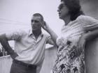 Herson Capri, quando ainda era calouro de Economia na USP, com a mãe, Yole