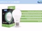 A caixa da LED também traz sua tonalidade expressa em Kelvin (K). Luz branca azulada (6500 K), também chamada de fria, é ideal para cozinhas e banheiros, enquanto a branca neutra (4000 K) deve ser destinada a áreas de trabalho