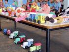Idealizador e responsável pela coordenação do Educação Lúdica, na Máxima, o agente penitenciário Vinícius Saraiva, destaca que os brinquedos confeccionados no presídio são bem diferentes dos comprados nas lojas