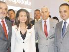 Ao discursar em cerimônia com o governador de São Paulo, pré-candidato a presidente e presidente nacional do PSDB, Geraldo Alckmin, a primeira-dama Lu Alckmin fez afagos à professora Lúcia França