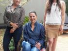 Marluce Borges, Synara Miranda e Ale Ricartes são as coordenadoras do projeto