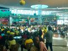 O telão transmitirá todos os jogos da Seleção Brasileira e as partidas dos outros países que iniciarão após às 10h da manhã, conforme a tabela da 1ª fase
