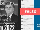 Postagens falsas alegam que 94% dos brasileiros votariam em Bolsonaro em 2022