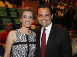 Ana Mirian Vilela e o secretário de Saúde da Capital, médico, Marcelo Vilela