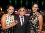 Divina com o marido, juiz federal Odilon de Oliveira e a filha, Adriana Oliveira