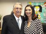 O advogado Abdala Jallad e a filha, Fabiana