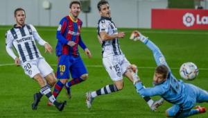 Lance do gol de Messi contra o Levante