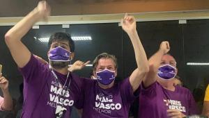 Chapa Mais Vasco comemora vitória em pleito online