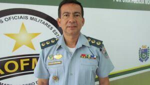 O presidente da Associação dos Oficiais da Polícia Militar de Mato Grosso do Sul, Alírio Vilassanti.