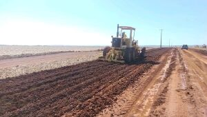 Obra de implantação e pavimentação entre Aral Moreira e Coronel Sapucaia