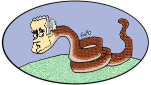 Brizola e a cobra de Amin