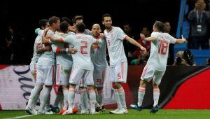Copa 2018: Espanha e Irã. Comemoração do primeiro gol da Espanha./Jorge Silva/Reuters/Direitos reservados