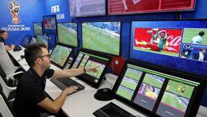 Centro de operações do sistema de arbitragem por vídeo em Moscou, na Rússia /Yuri Kochetko/EFE/direitos reservados