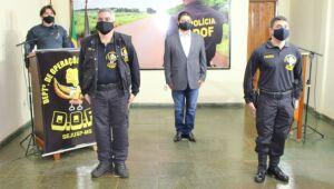 O novo comandante-geral da Polícia Militar de Mato Grosso do Sul, coronel Marcos Paulo Gimenez, de 46 anos, oficializou nesta terça-feira (2.6) sua saída da direção do Departamento de Operações de Fronteira (DOF)