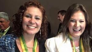 Deputada Carla Zambelli (PSL-SP) e  Joice Hasselmann (PSL-SP)