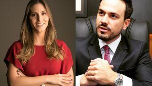 Os advogados Heloysa Furtado e Douglas de Oliveira
