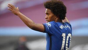 Na última temporada, Willian disputou 47 partidas pelo Chelsea, com 11 gols marcados e nove assistências.