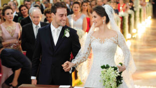 Os noivos, Edmur Miglioli Neto e Ana Luiza Stuhrk