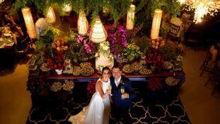 Luciana e Rafael se casaram no sábado, 17, na Estação Galileia
