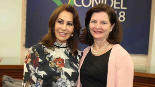 A presidente do TRE-MS, desembargadora Tânia Borges e o procuradora geral da República, Raquel Dodge
