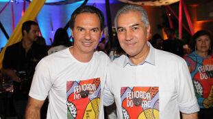 O prefeito da Capital, Marquinhos Trad e o governador Reinaldo Azambuja