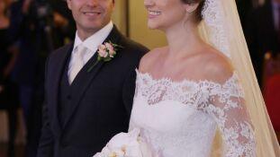 A cerimônia religiosa do casamento de Lucas Goulart e Natali Aléssio foi na Igreja Nossa Sra Pérpetuo Socorro