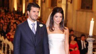Os noivos, Pedro João e Helena, belos e felizes
