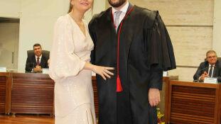 Antonia e o marido, juiz eleitoral Daniel Castro