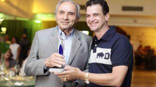 O empresário Ueze Elias Zahran e o colunista Fernando Soares