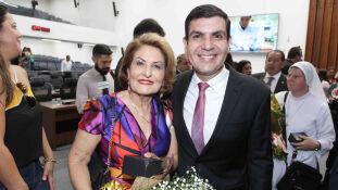 A empresária Reni dos Santos e o sobrinho, deputado Jamilson Name