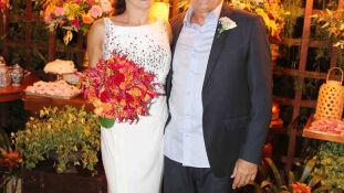 Os noivos Deborá Figueiró e Cleir Avila Jr