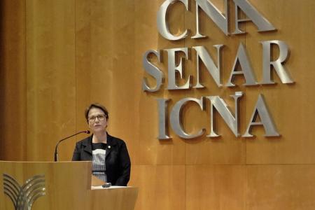 Uma das palestrantes foi a deputada federal Tereza Cristina (DEM-MS) que apresentou uma visão do governo sobre o financiamento de crédito para o agronegócio em 2018