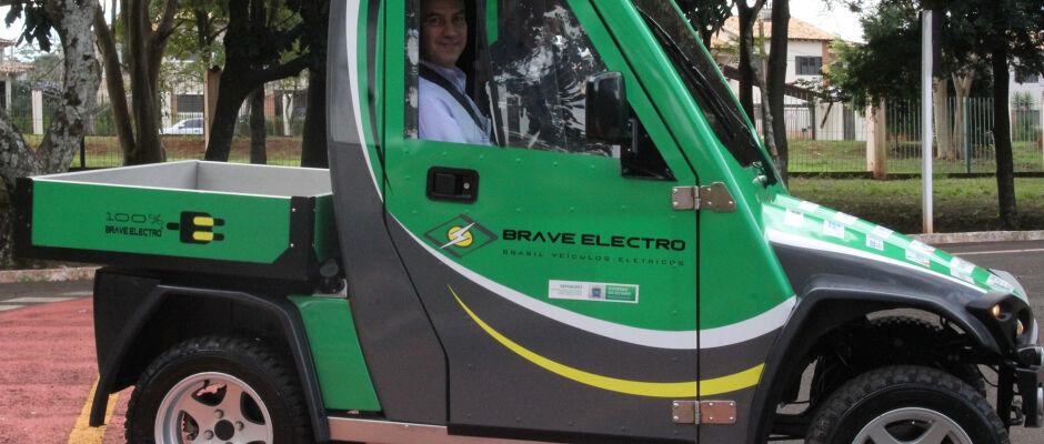 Manutenção do Parque das Nações será feita com veículo elétrico