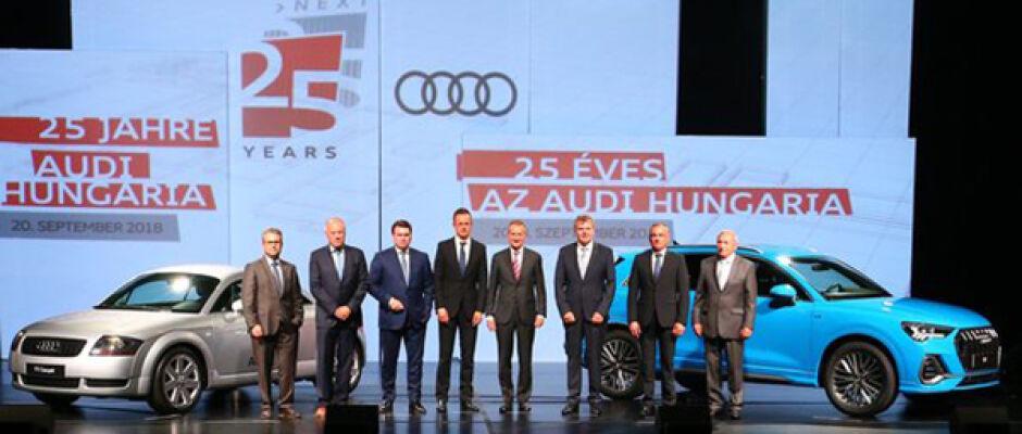 Audi celebra história de 25 anos de sucesso na Hungria
