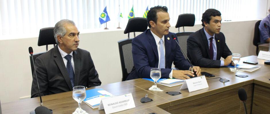 Marcos Derzi preside encontro entre Azambuja e Geoterra para assinatura de acordo