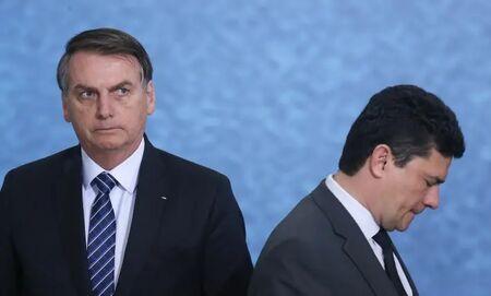 O presidente Jair Bolsonaro e o ex-ministro da Justiça e Segurança Pública Sérgio Moro.