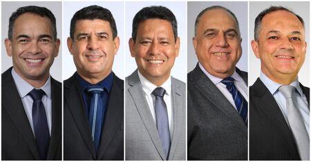 Os vereadores Dr. Sandro Benites (presidente), Beto Avelar, Clodoilson Pires, Dr. Jamal e Professor André Luiz