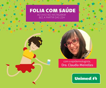 Por isso, a Unimed do Brasil, que representa institucionalmente as cooperativas que atuam sob a marca Unimed, promoverá um bate-papo ao vivo, em seu perfil no Instagram (@unimeddobrasil), no dia 8 de fevereiro (quinta-feira), às 15h, com a médica epidemio