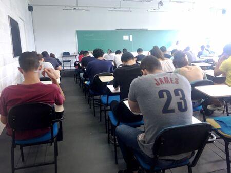 O processo seletivo ocupou 30 salas da Universidade
