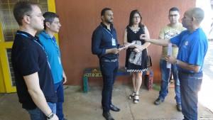 O técnico da CCEV esteve nesta quinta-feira apresentando o projeto na UFMS.